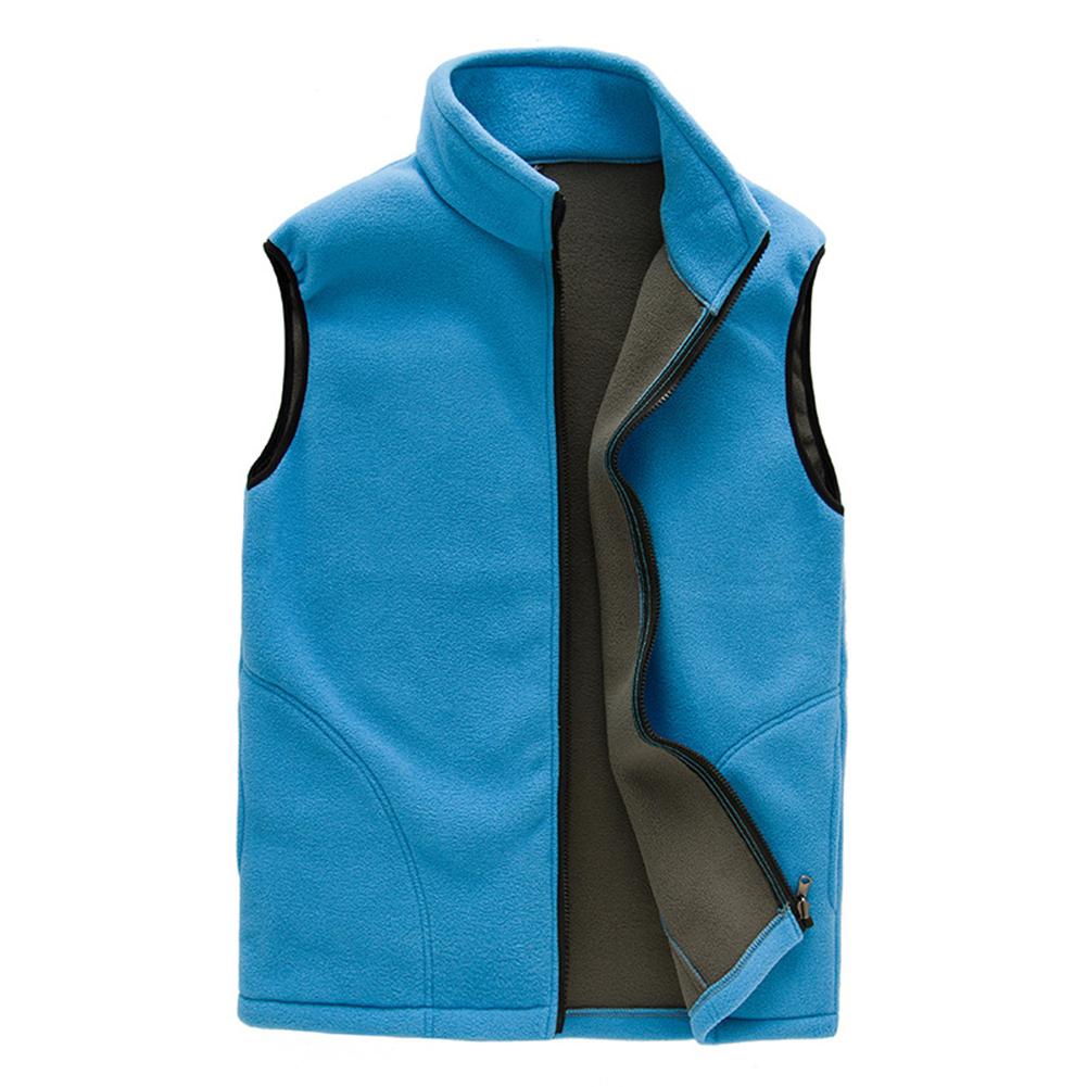 Women Breathable Fleece Vest Warm Solid Color Gilet Sleeveless Sweatshirt