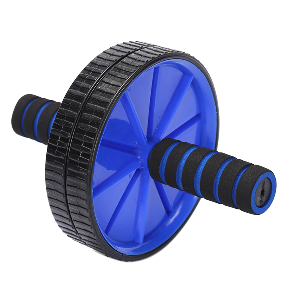 Abs Wheel Body Exercise Gym Roller Abdominal Core Exerciser Strength Workout Fitness Trainer blue