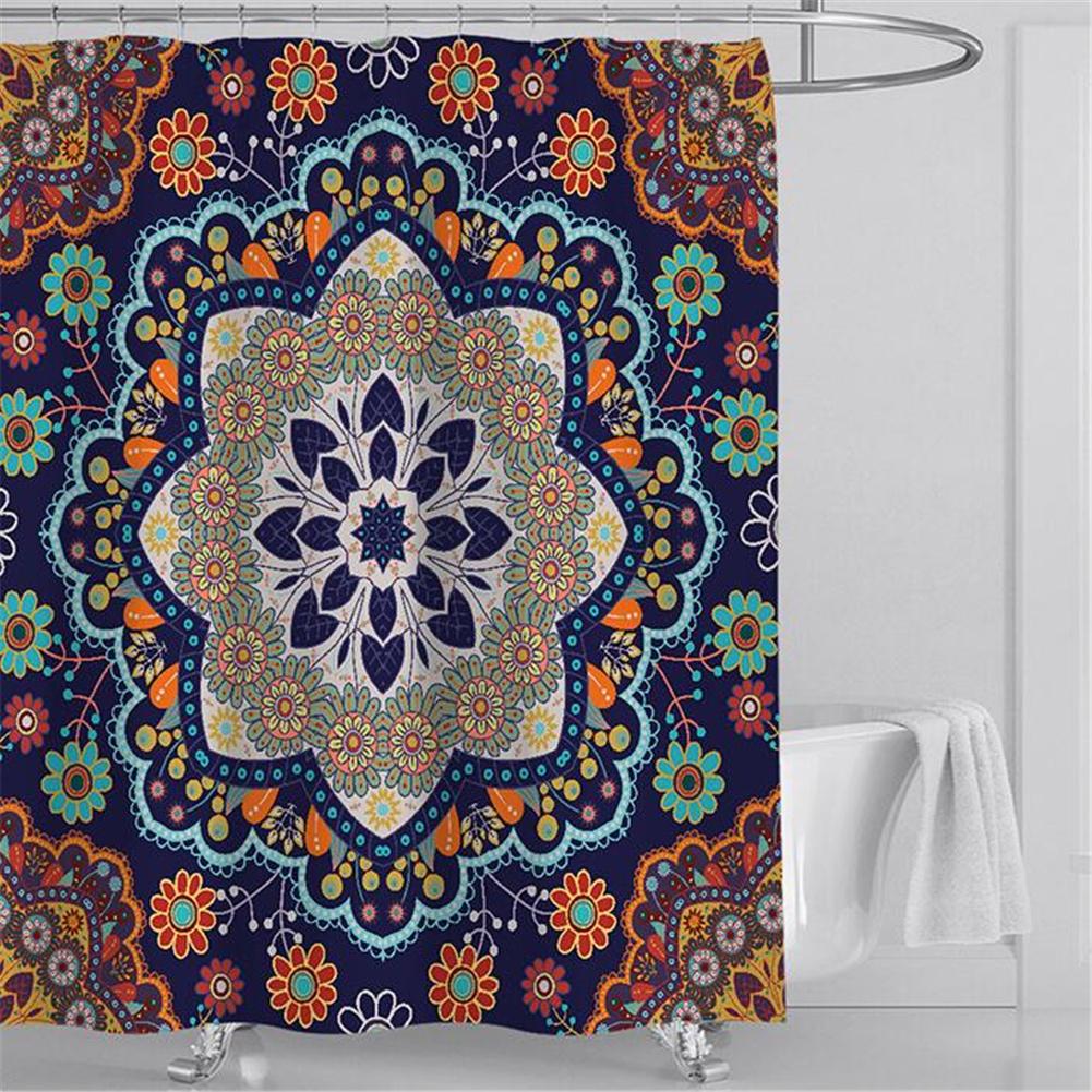 3d Printing Bohemian Shower  Curtain Waterproof Bathroom Hanging Curtain 180*200cm