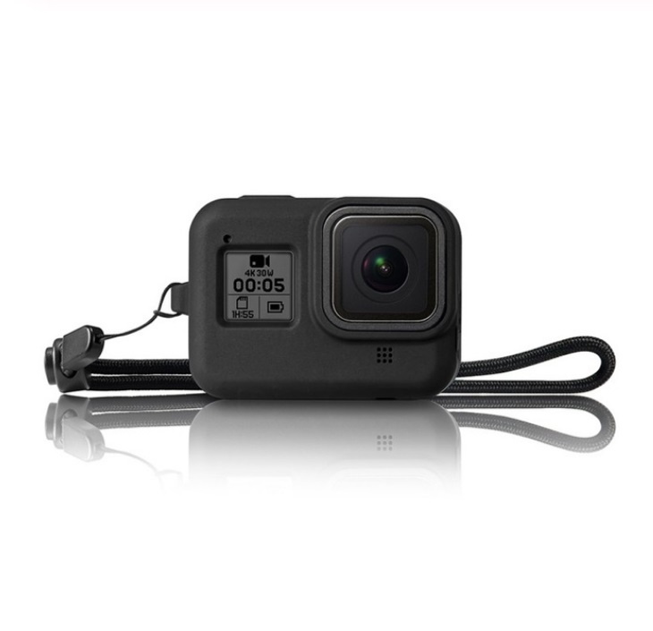 Camero Protective Case for GoPro HERO 8 Action Camera Soft Silicone Full Body Protection Storage Cover black