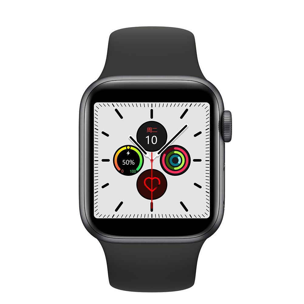 W55 Smart Watch 1:1 Wireless Charging Bluetooth Communicate Sports Mode IP68 Waterproof Watch 5 Smart Bracelet Black 44mm