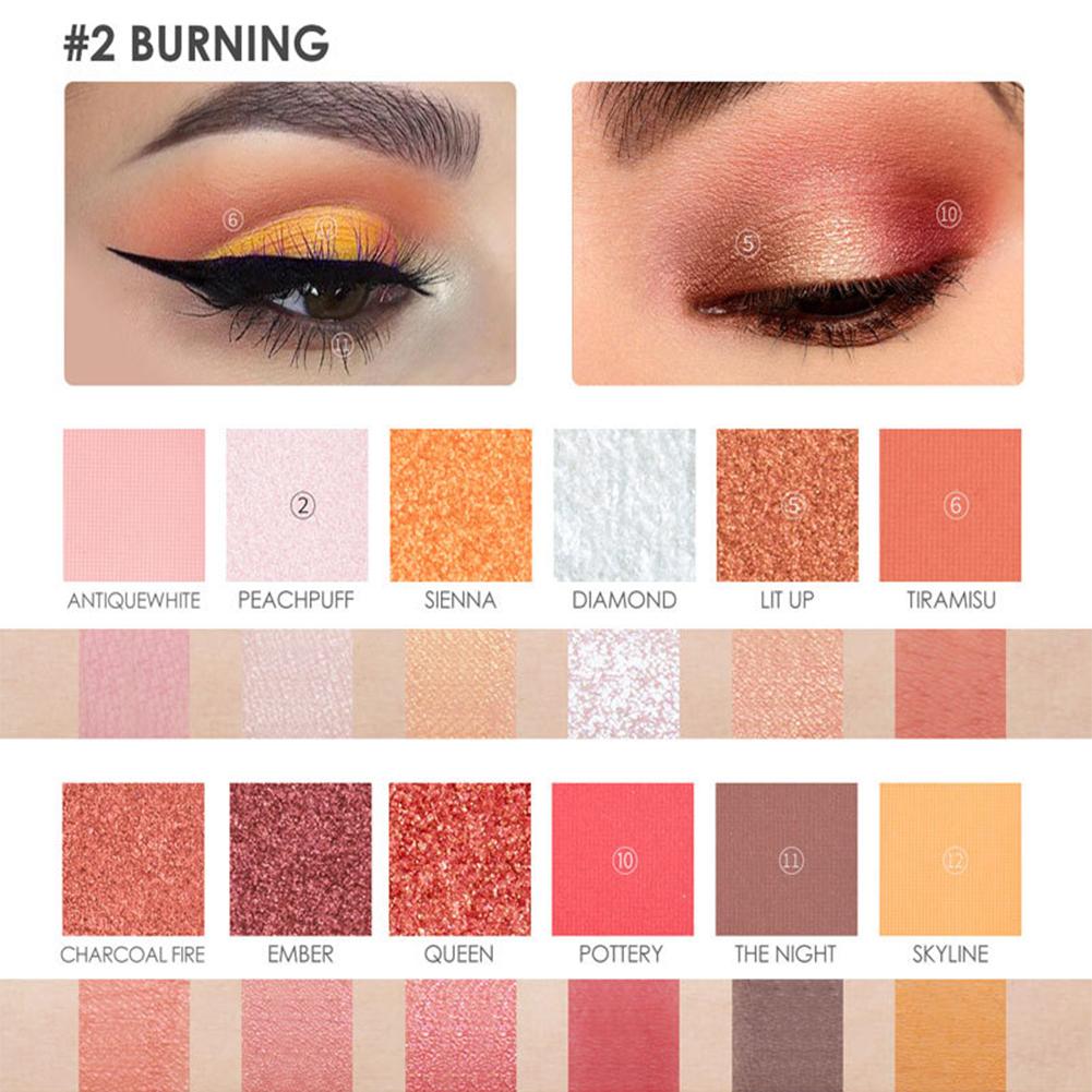 12 Color Eyeshadow Pearlescent Matte Eye Shadow FA50,  Waterproof Eyeshadow No Fly and No Faint
