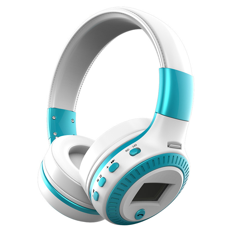 Original ZEALOT B19 Bluetooth Headphones - White Blue