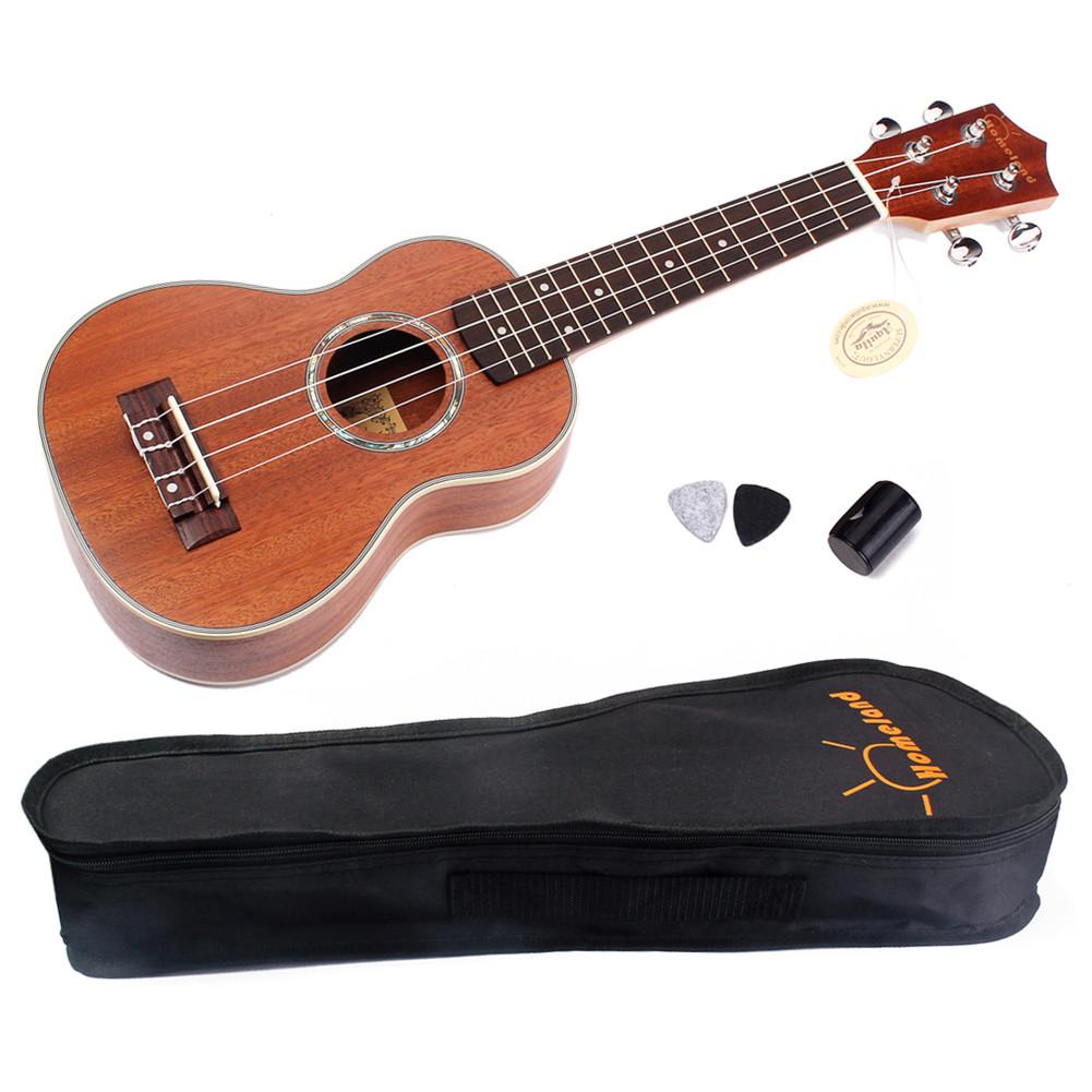 21inch Mahogany Wood Ukulele Hawaiian Small Guitar Close Type Tuning Pegs Sting Instrument