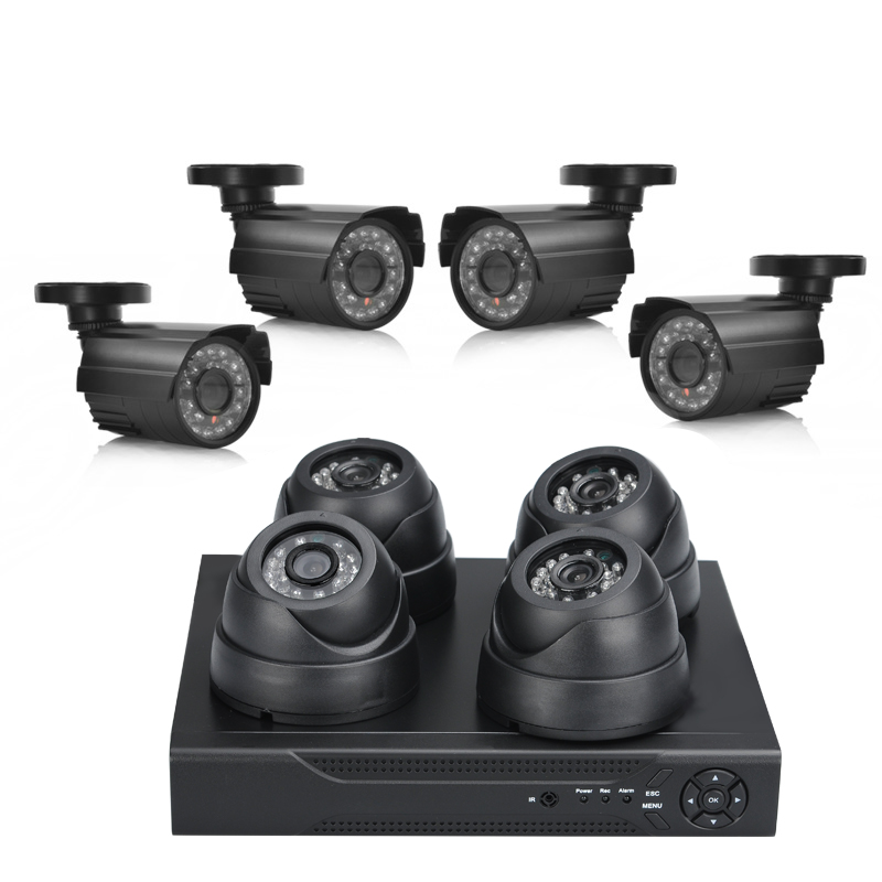 4 Indoor + 4 Outdoor Camera Surveillance Kit