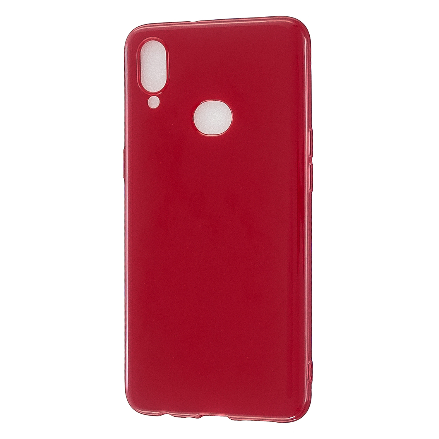 For Samsung A10S/A20S Cellphone Cover Soft TPU Phone Case Simple Profile Full Body Protection Anti-scratch Shell Rose red