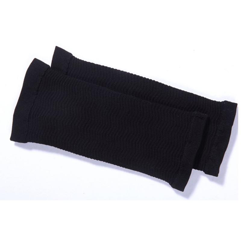2 Pcs Women Weight Loss Thin Arm Fat Slimmer Wrap Elasticity Belt Arms Sleeve  black