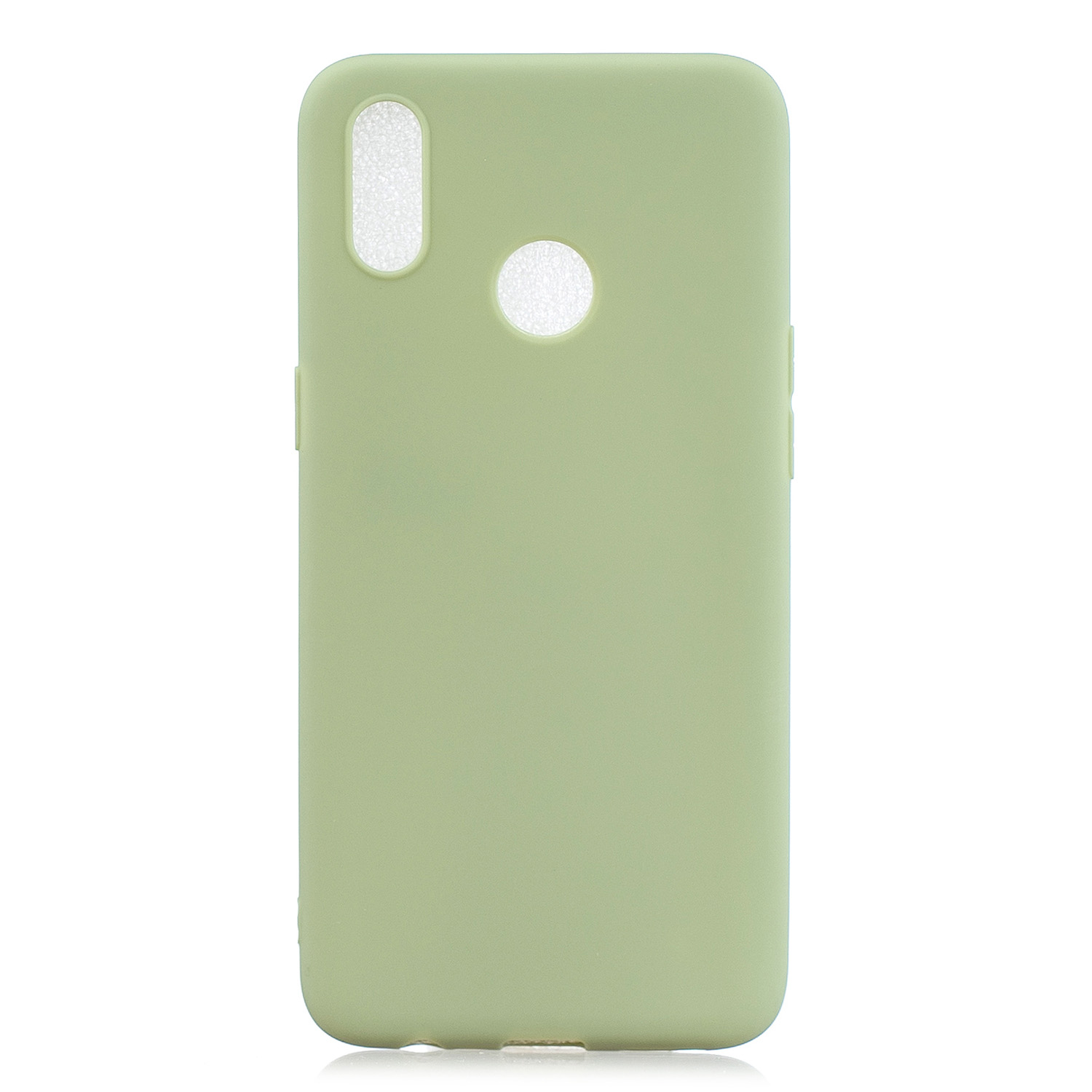 For OPPO Realme 3 Lovely Candy Color Matte TPU Anti-scratch Non-slip Protective Cover Back Case 10