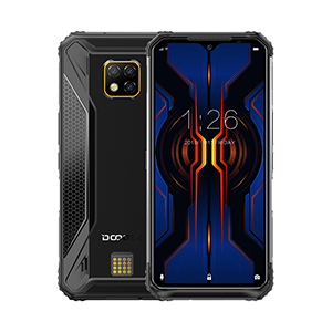 DOOGEE S95 Pro Mobile Phone IP68/IP69K Waterproof 6.3inch Smartphone 5150mAh Helio P90 CPU 8GB RAM+128GB ROM 48MP+16MP+8MP Camera Android 9.0 Pie System Black_European version