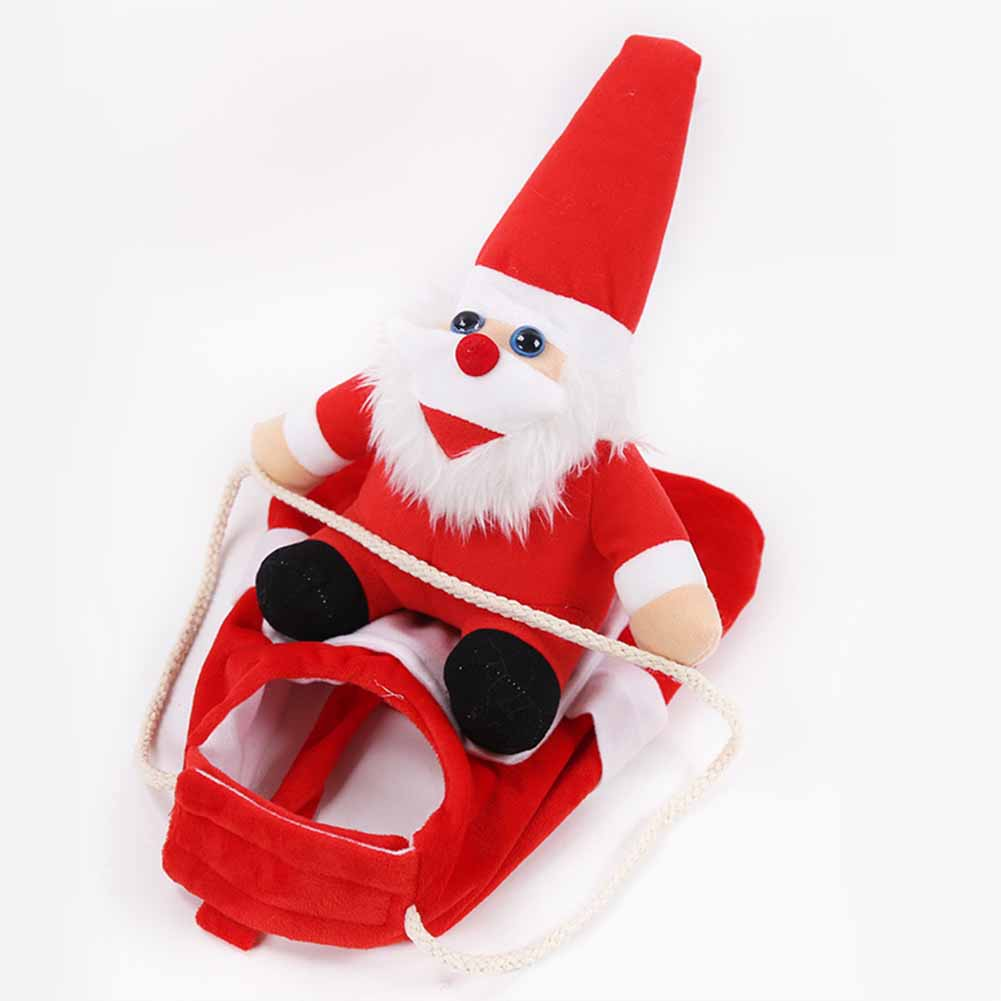 Pet Dog Christmas Coat Cat Clothing Santa Claus Transformed Jacket Cosplay Outfit for Medium Large Dogs Red_L (chest 50-70cm)