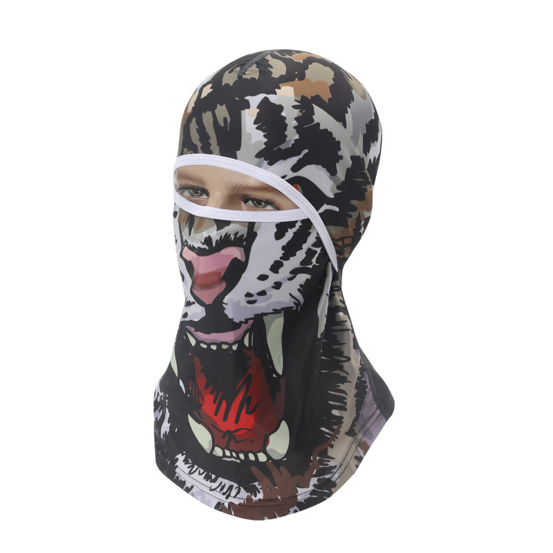 Sports Headwear Motorcycle Riding Headgear Magic Sport Scarf Full Face Mask Balaclava One size_Tooth Tiger J