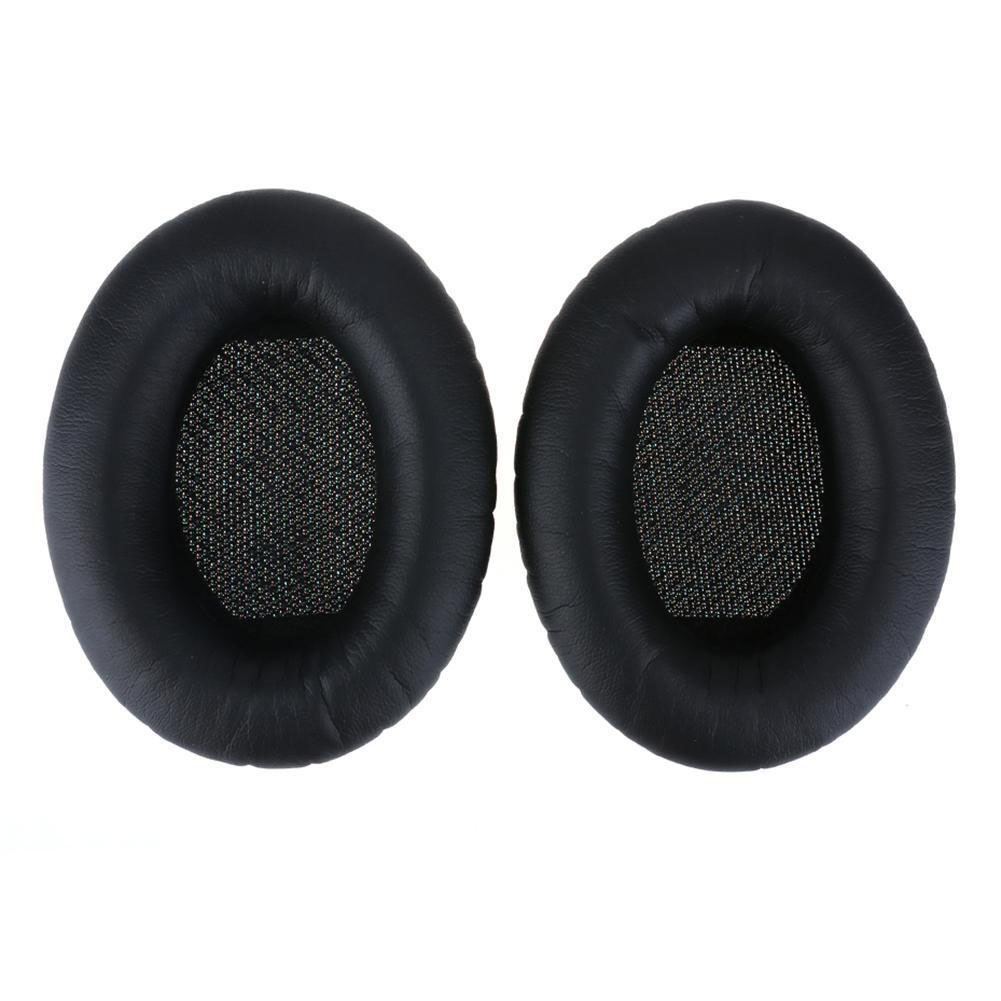 Replacement Ear Pads Soft Leather Cushions for Bose QuietComfort QC35 Headphones Black + black