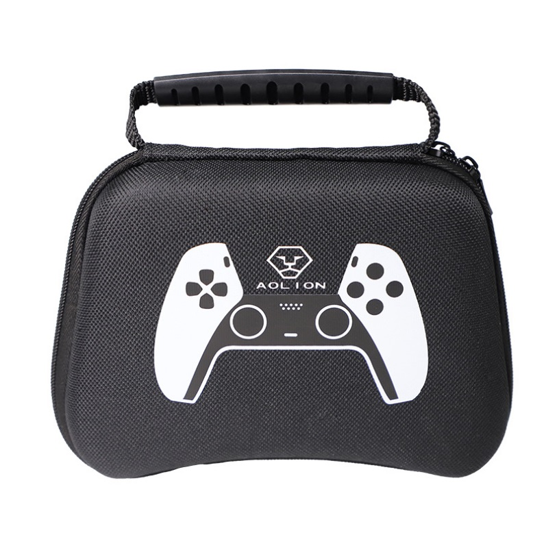 Waterproof Storage Bag Carrying Case for PS5 Gamepad Housing Shell Shockproof Protective Cover black