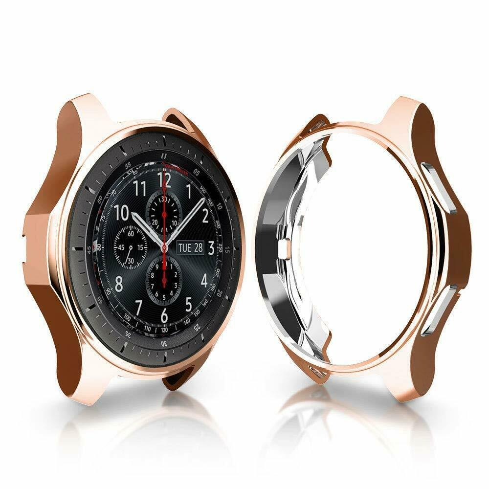 Soft TPU Protector Watch Case Cover for Samsung Galaxy Watch 42mm 46mm Rose gold_46mm
