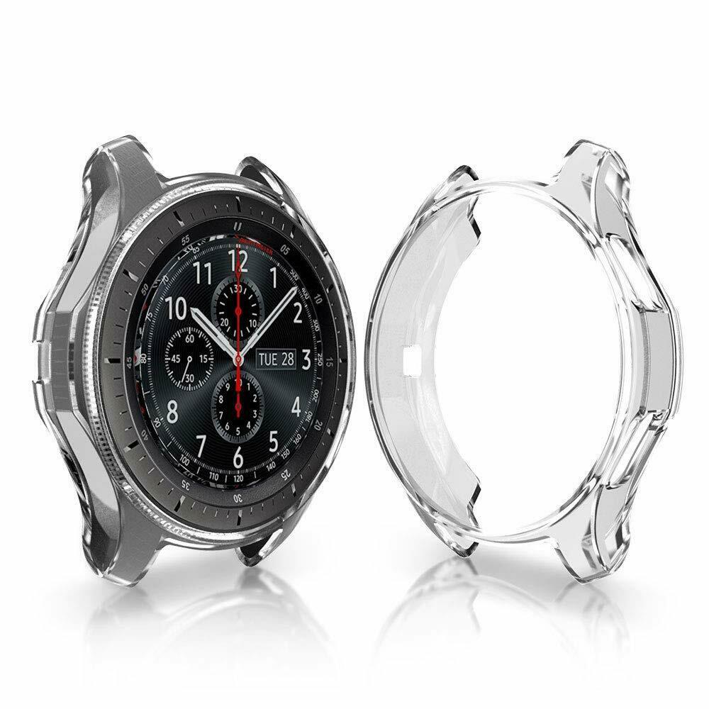 Soft TPU Protector Watch Case Cover for Samsung Galaxy Watch 42mm 46mm Transparent_42mm