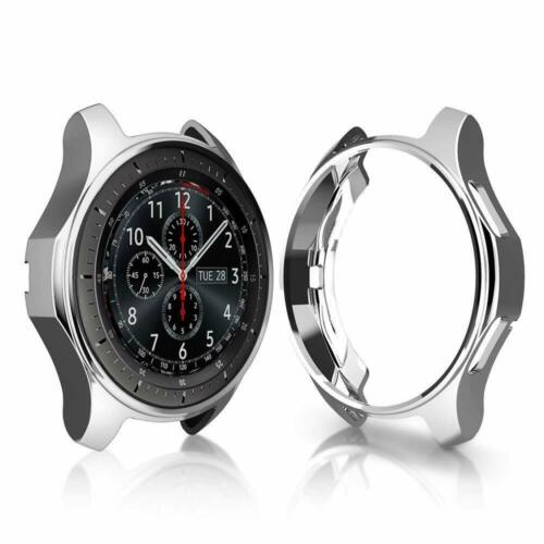 Soft TPU Protector Watch Case Cover for Samsung Galaxy Watch 42mm 46mm Silver_46mm