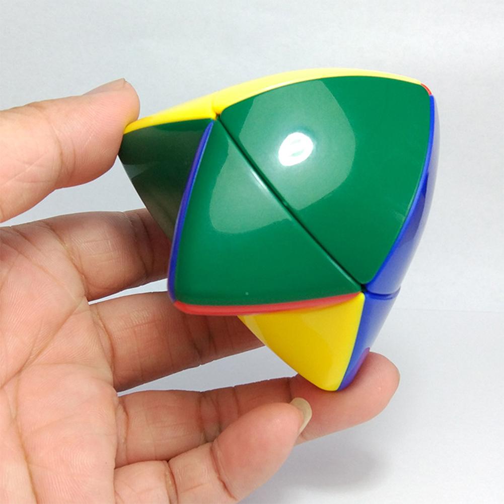 2*2 Skewb Pocket Cube Two Layers Tetrahedron Puzzle Cubes Brain Teaser Magic Cube