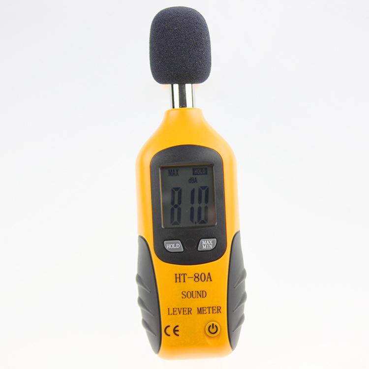 Decibel Meter, Digital Sound Level Meter HT-80A Audio Noise Measure Device Dual Ranges