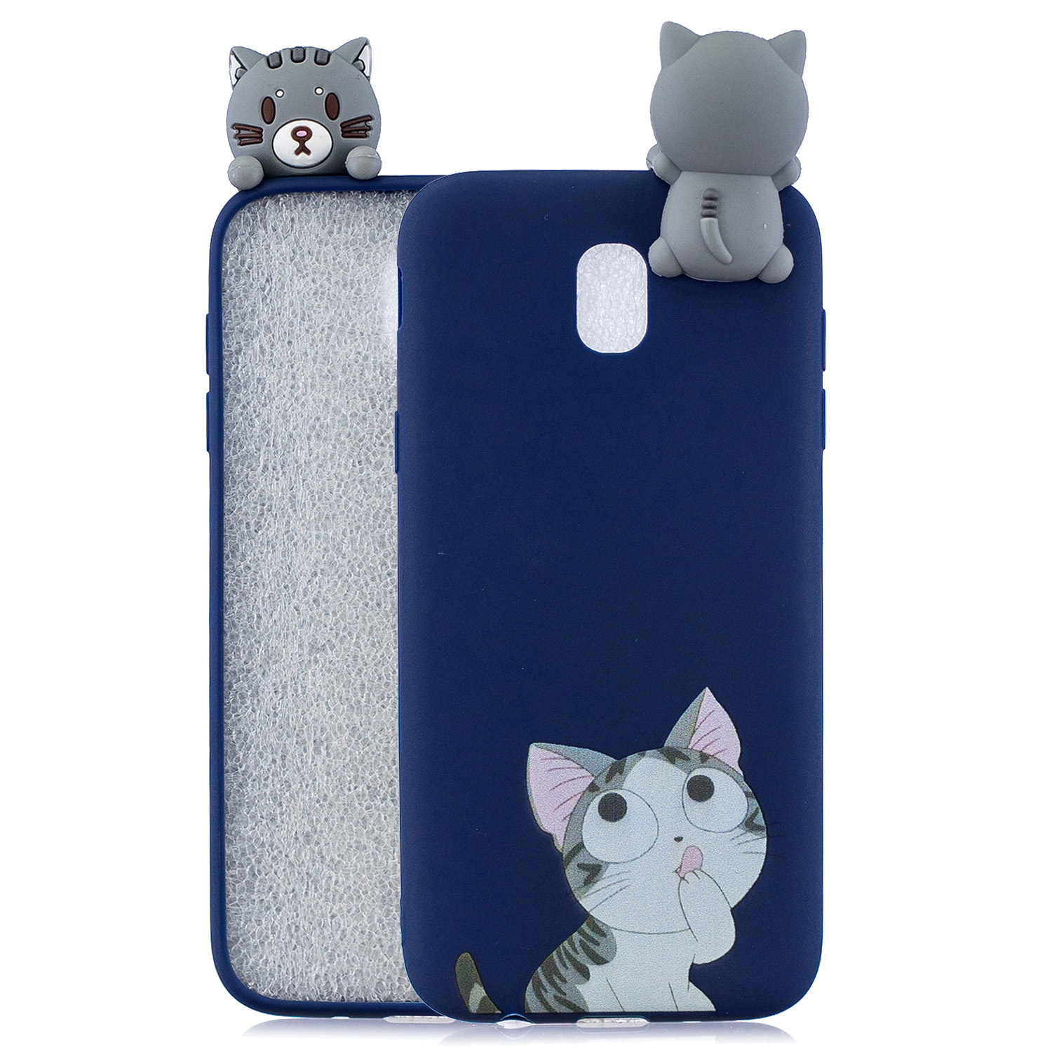 For Redmi 8A 3D Cartoon Painting Back Cover Soft TPU Mobile Phone Case Shell big face cat