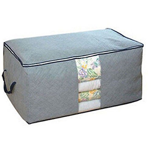 Quilt Pillows Blanket Clothing Large Storage Bag for Summer Winter Duvets Newest Color:Gray