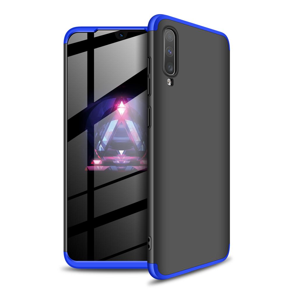 For Samsung A70 Ultra Slim PC Back Cover Non-slip Shockproof 360 Degree Full Protective Case Blue black blue