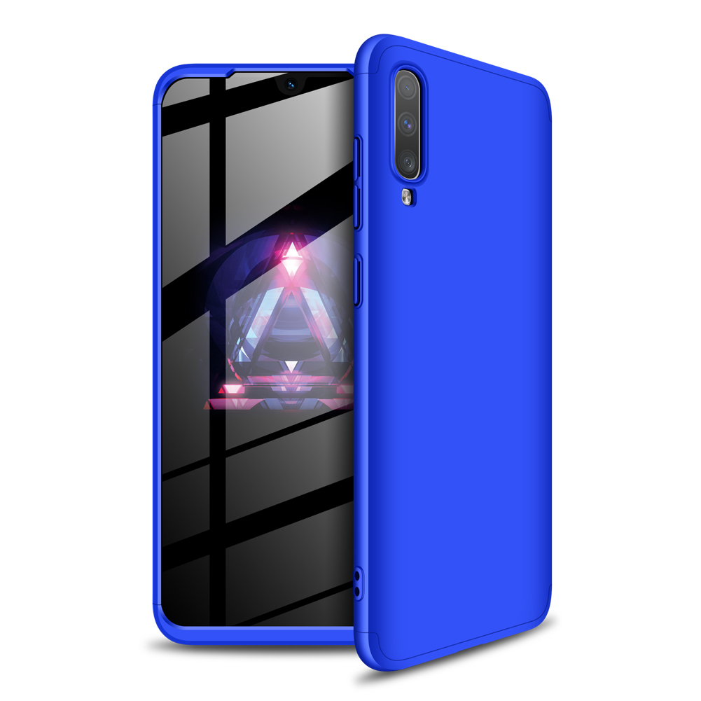 For Samsung A70 Ultra Slim PC Back Cover Non-slip Shockproof 360 Degree Full Protective Case blue