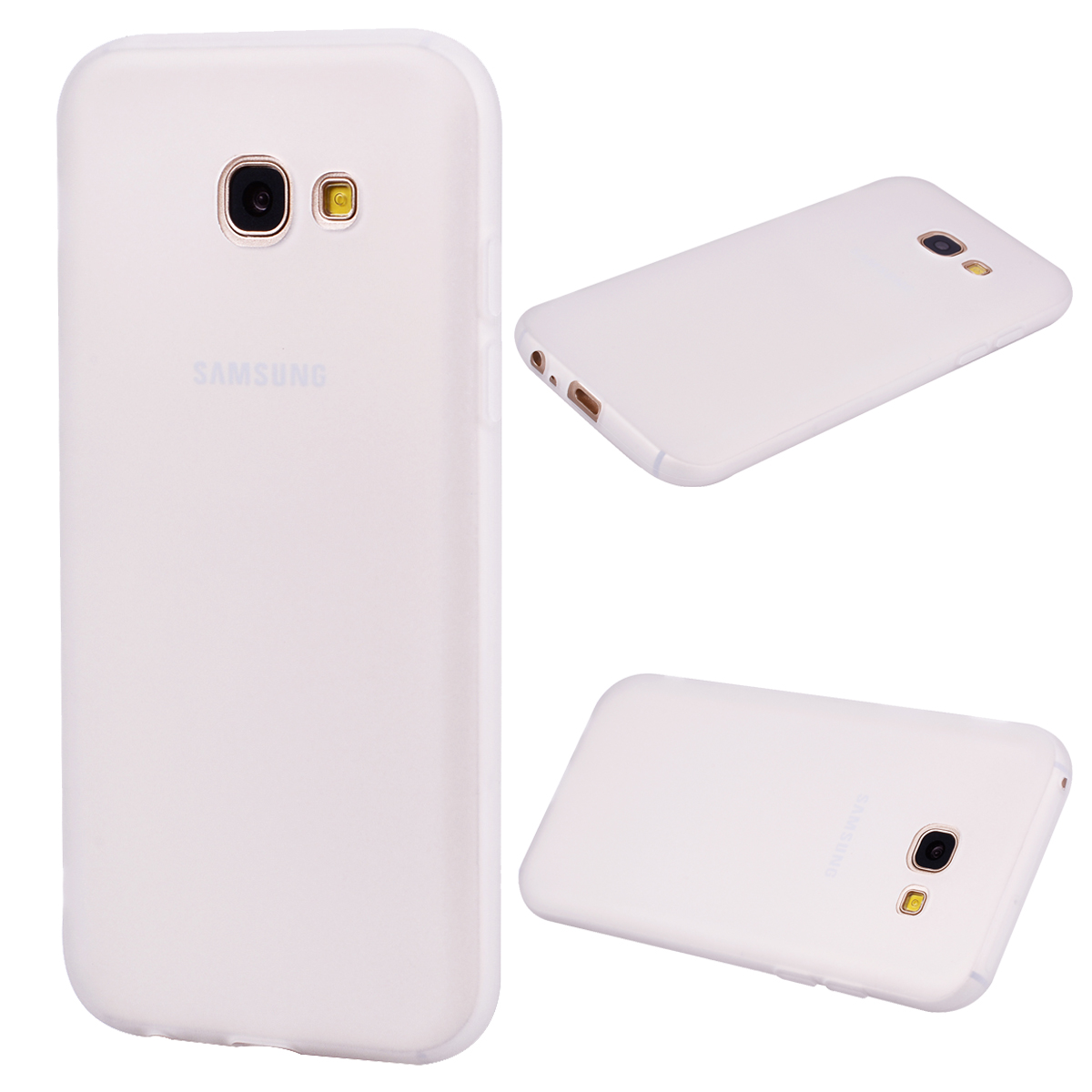 for Samsung A5 2017 Cute Candy Color Matte TPU Anti-scratch Non-slip Protective Cover Back Case white