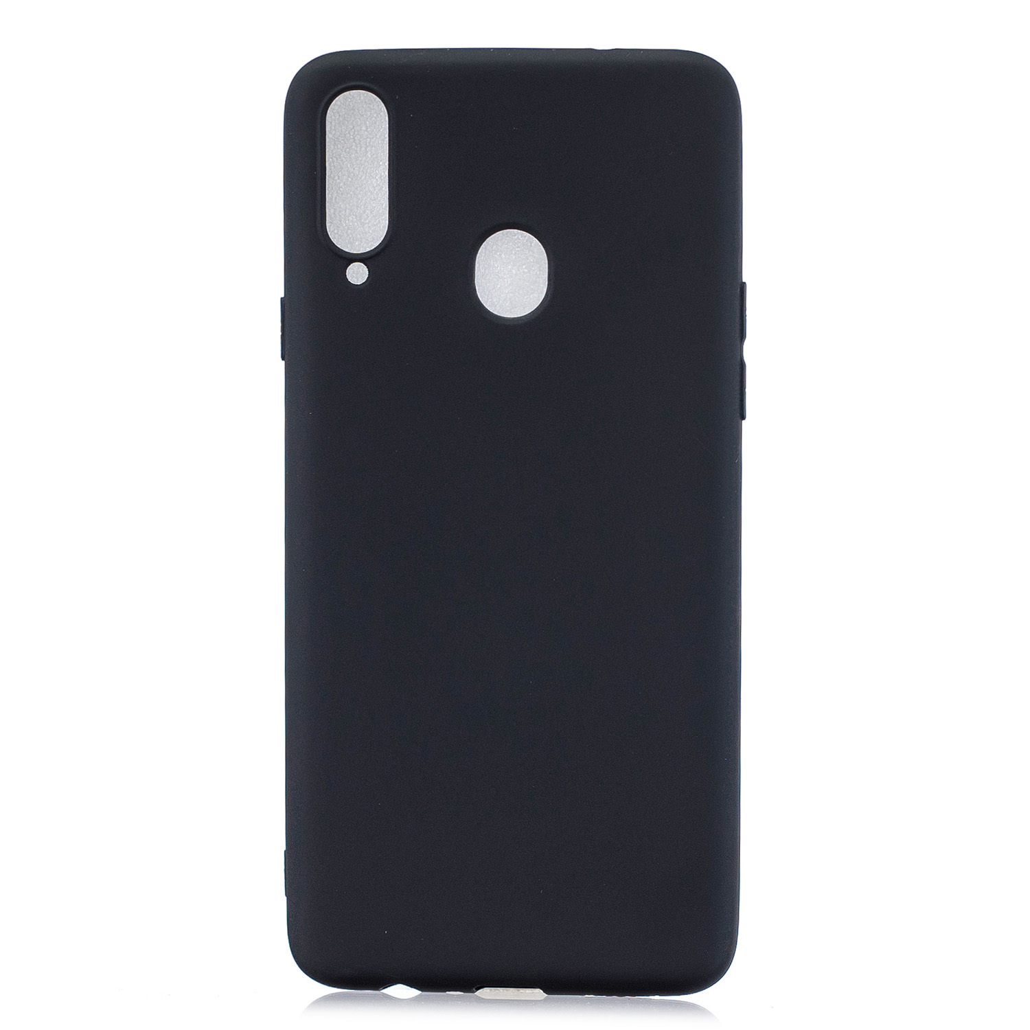 For Samsung A10S A20S Shockproof TPU Back Cover Soft Candy Color Frosted Surface Mobile Phone Case black