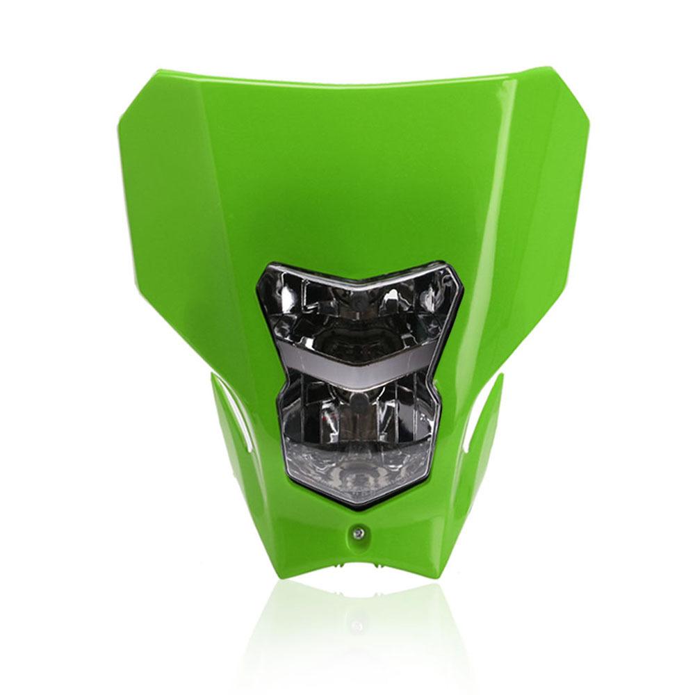 Off Road Dual Sport Motocross Headlight KTMH4 Running Head Lamp Xenon Green