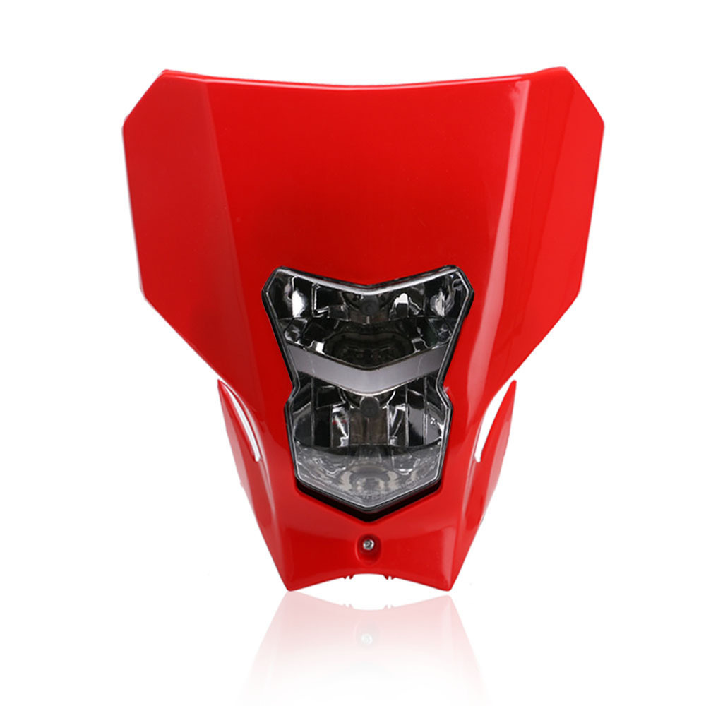 Off Road Dual Sport Motocross Headlight KTMH4 Running Head Lamp Xenon lamp red