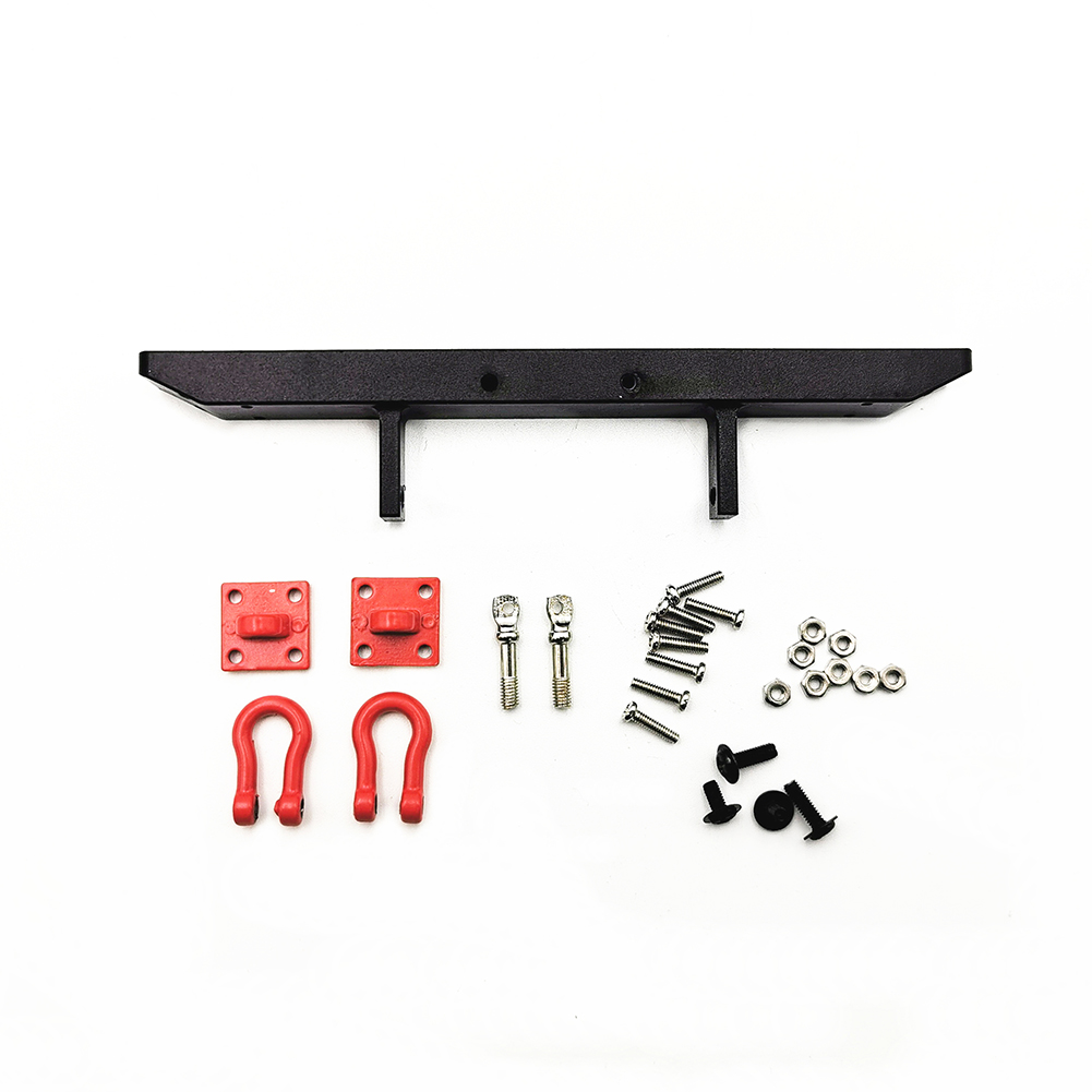 1/16 Metal RC Car Bumper Protector with Hook DIY Modified Parts for Willys C606 Q65  black