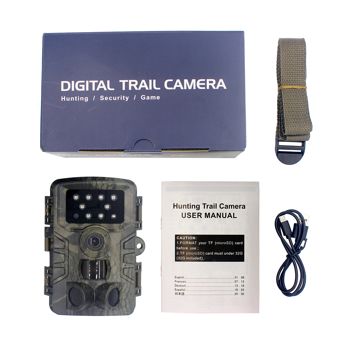 Trail Camera Wildlife Camera With Night Vision Motion Activated Outdoor Trail Camera As shown