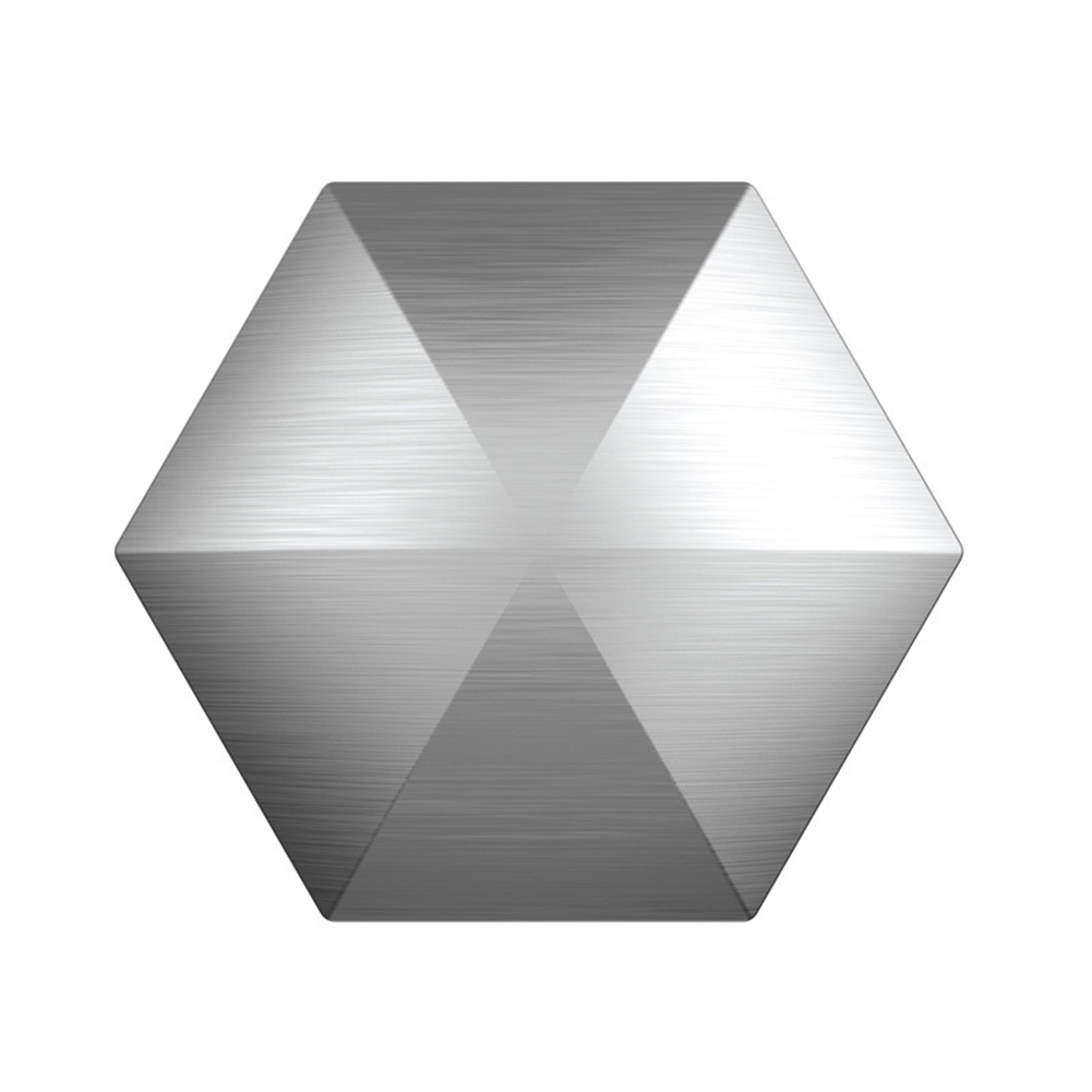 Flipo Flip Desk Toy Stress Relief Desktop Flip for Adult Metal FingertipToy Hexagon silver