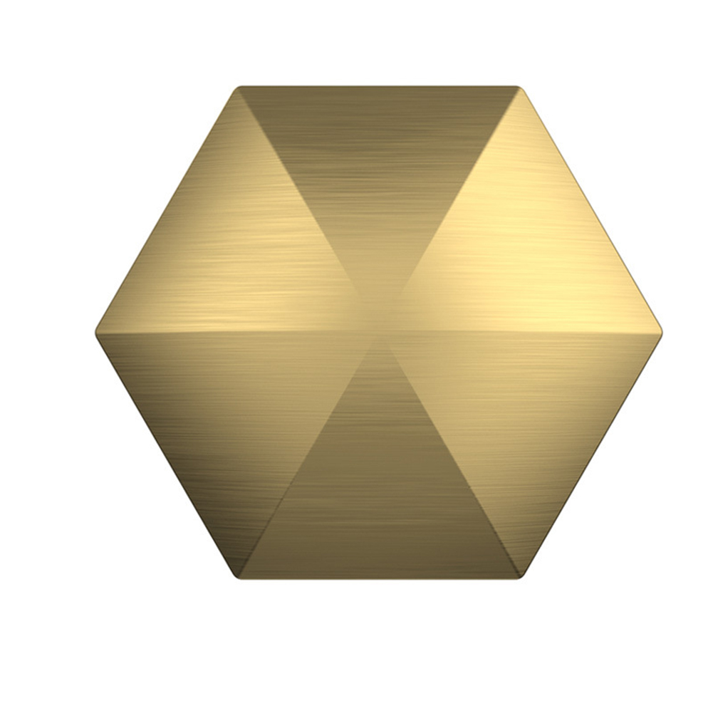 Flipo Flip Desk Toy Stress Relief Desktop Flip for Adult Metal FingertipToy Hexagon gold