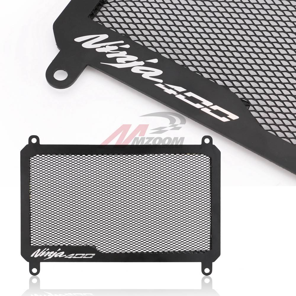 Motorcycle Radiator Guard Grille Protector Radiator Shield For Kawasaki Ninja 400 Z400 black
