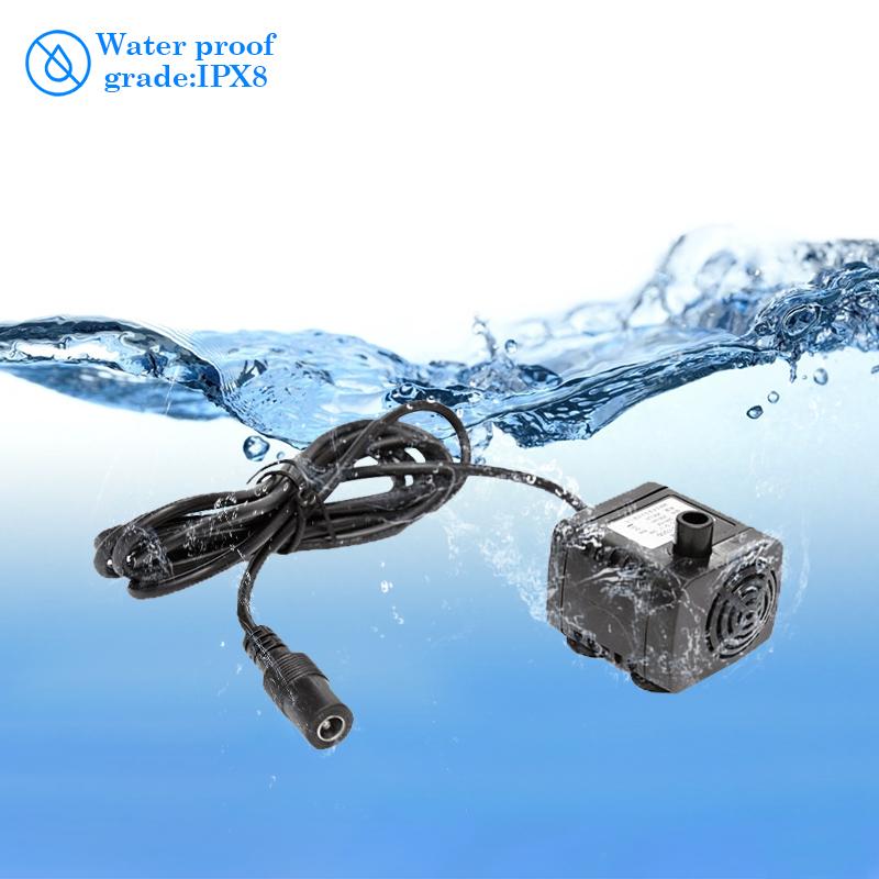 Water Pump DC 12V Brushless Aquarium Silent Circulation Dc Submersible Pump AD20P-1230E