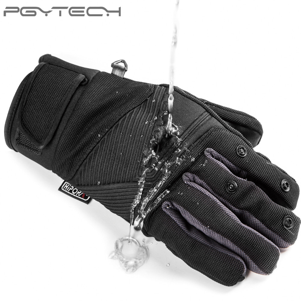 PGYTECH Outdoor Windproof Flying Gloves Mountaineering Ski Riding Photography Flip Waterproof Touch Screen Multifunction Gloves L