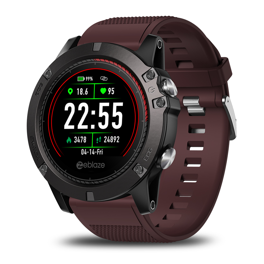 Zeblaze VIBE3 ECG Smartwatch Red