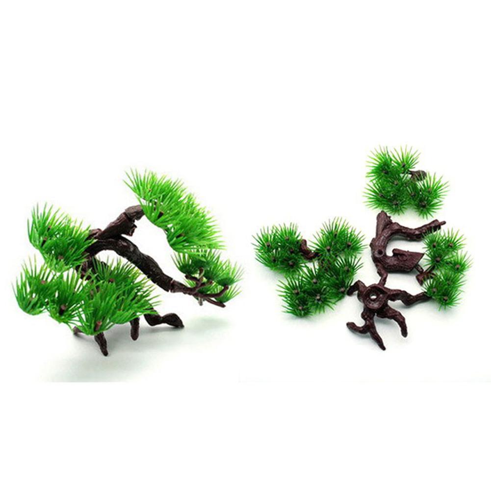 Simulation Pine for Aquarium Rockery Bonsai Landscaping Decoration Accessories (S) pine tree