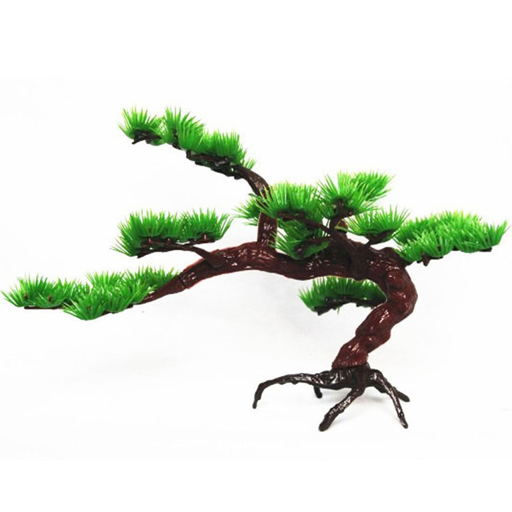Simulation Pine for Aquarium Rockery Bonsai Landscaping Decoration Accessories (L) pine tree