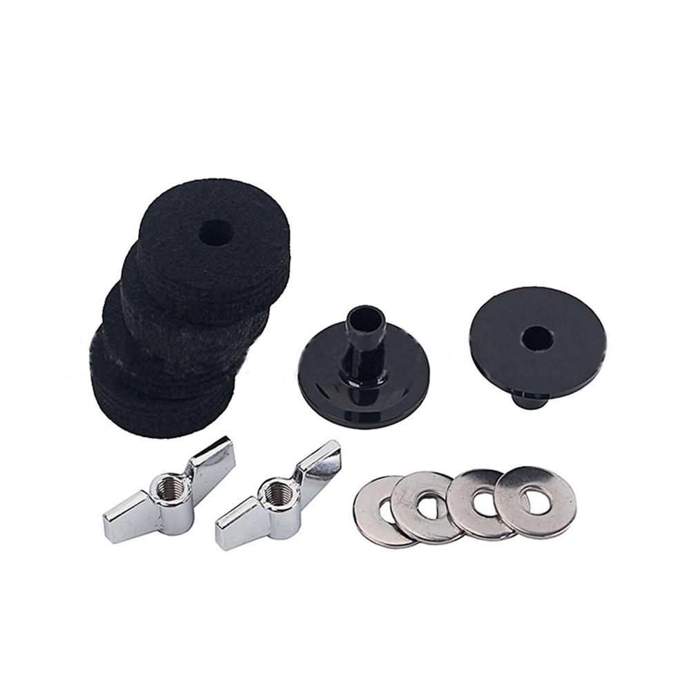 Drum Felt Pad Gray Sleeve Nut Spacer Accessories Set Musical Instrument black