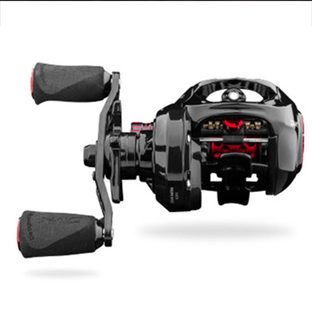6.5/9.1 Speed Ratio ALPHA SL Fishing Reel Bait Casting Ultralight Carbon Fiber Baitcast Dual Brake Low-Profile Reel 9.1 speed ratio right hand