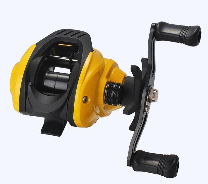 Yellow Fishing Wheel Low-Profile Reel Conversion Wheel Bahau Long Shot Wheel Little yellow wheel right hand