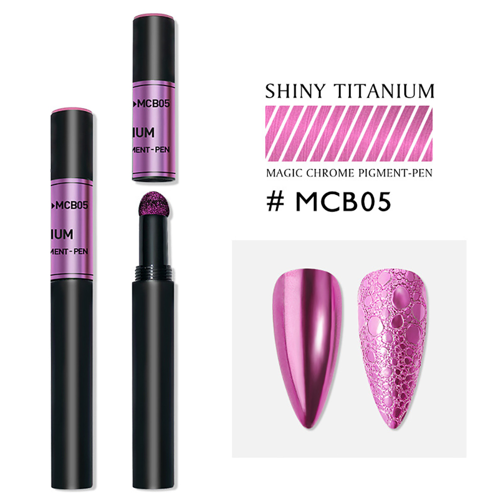 Solid Powder Air Cushion Magic Pen Nail Art Magic Mirror Effect Phantom Nails Pen Manicure Tools Mirror magic mirror-05#