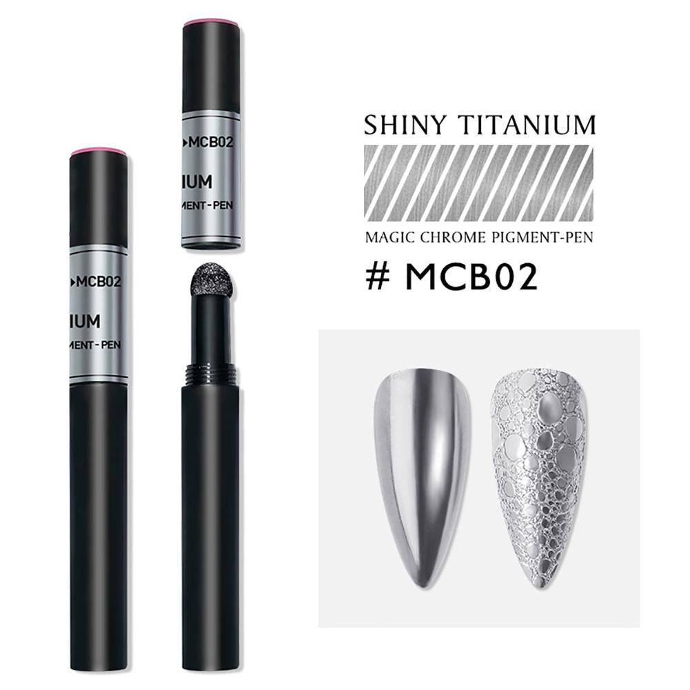 Solid Powder Air Cushion Magic Pen Nail Art Magic Mirror Effect Phantom Nails Pen Manicure Tools Mirror magic mirror-02#