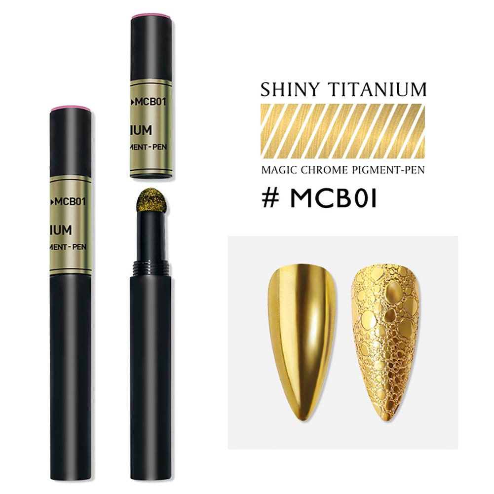 Solid Powder Air Cushion Magic Pen Nail Art Magic Mirror Effect Phantom Nails Pen Manicure Tools Mirror magic mirror-01#