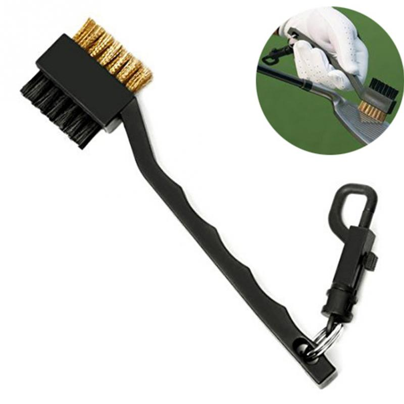 Golf Double-side Putter Cleaning Brush Black