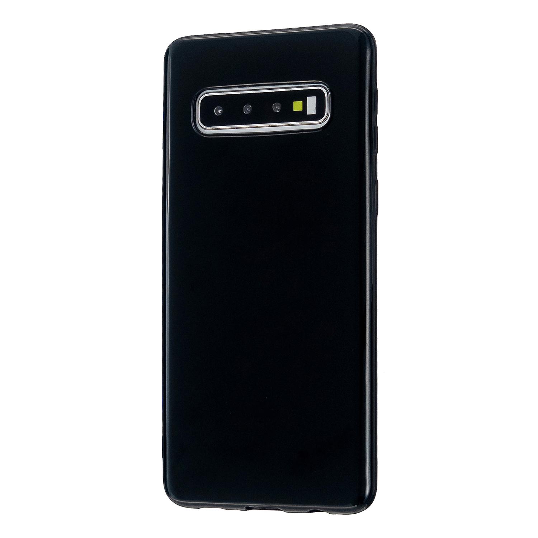 For Samsung S10/S10E/S10 Plus Cellphone Case Precise Cutouts Simple Profile Soft TPU Mobile Phone Shell Bright black
