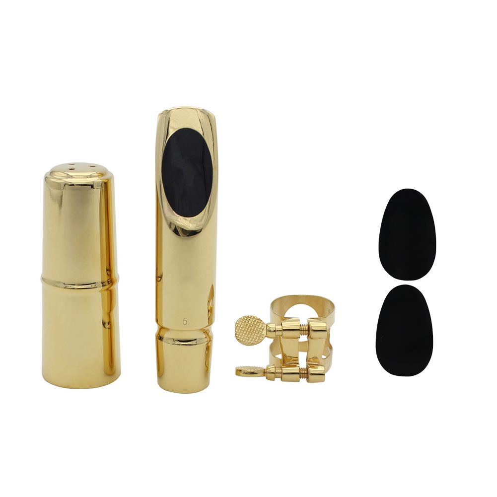 Flute Head Set for Alto Saxophone E-flat Hand-polished Professional Metal Blowing Mouthpieces with Flute Head Cover Dental Pad Pure Sound  7
