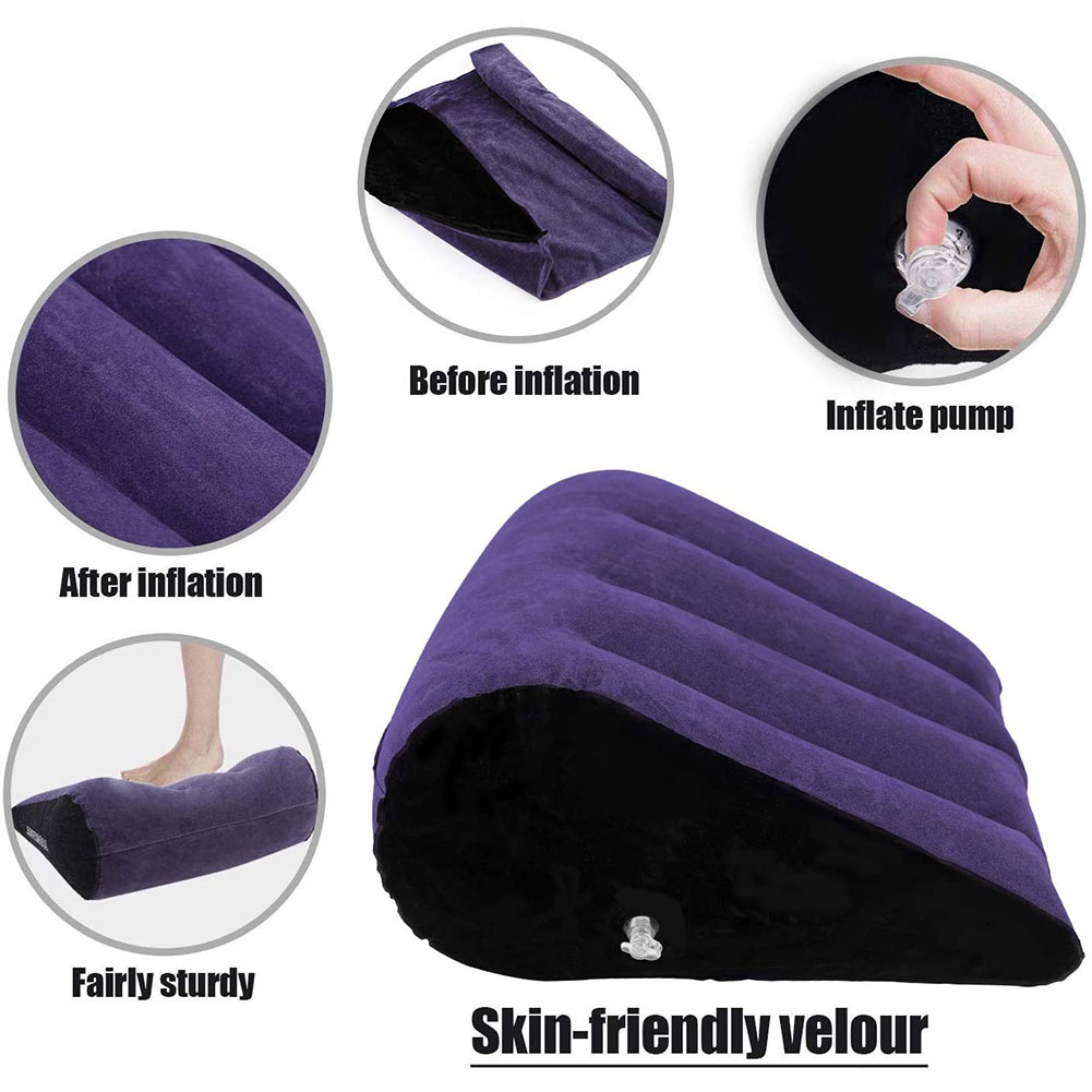 Sex Pillow Sex Lumbar Pillow With Triangle Foldable Sex Pillow Inflatable Travel Pillow Erotic Sex Toy For Couples